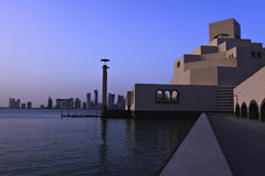 Islamic art museum sunset Royalty Free Stock Photos
