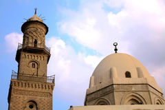 Mosque in egypt. The islamic art of an old ancient mosque in old cairo in egypt Royalty Free Stock Photography