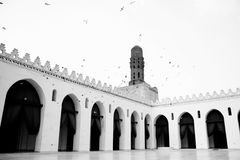 Mosque in egypt. The islamic art of an old ancient mosque in old cairo in egypt Royalty Free Stock Photo
