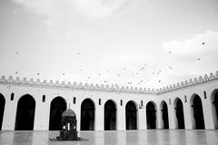 Old mosque in egypt cairo. The islamic art in old cairo in egypt Stock Photos