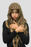 Islamic Asian girl with scarf royalty free stock photography