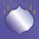 Islamic Background. Islamic backgrounnd. Islamic frame/border with pattern in back Royalty Free Stock Photo