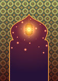 Islamic background with glowing lantern vector illustration