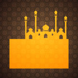 Islamic background with mosque Stock Photos