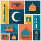Islamic background with mosque in flat design Stock Photo