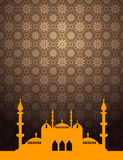Islamic background with mosque silhouette Royalty Free Stock Image