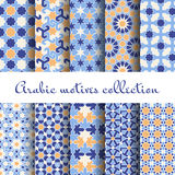 Islamic backgrounds. Arabic seamless pattern set, design wallpaper, vector illustration Stock Images