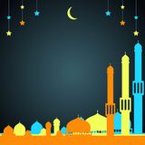 Islamic banner with stars and mosques Royalty Free Stock Photos