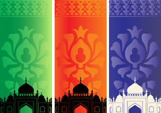 Islamic banners with mosque Royalty Free Stock Photo