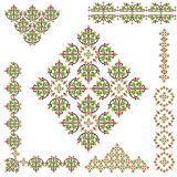Islamic border set. Studied the eastern border set of traditional patterns Royalty Free Stock Photography