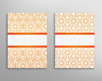 Islamic brochure vector. Islamic pattern. Brochure and flyer in islamic design. Vector geometric background in islamic style Royalty Free Stock Image