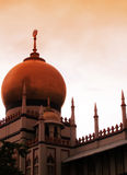 Islamic building - Mosque at evening Royalty Free Stock Image