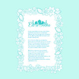 Islamic calligraphy of text Eid-Ul-Adha on floral decorated. vec. Tor illustration Royalty Free Stock Images