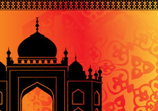 Islamic card with mosque Royalty Free Stock Images