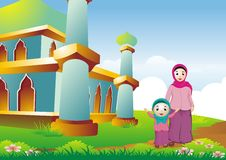 Islamic cartoon Royalty Free Stock Photography