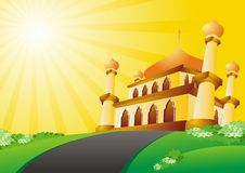 Islamic Cartoon mosque 2015 Royalty Free Stock Photography