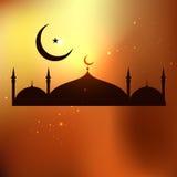 Islamic Cartoon mosque. Stock Photography