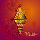 Islamic celebration background with text Ramadan Kareem Stock Images