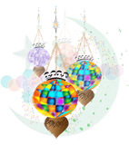 Islamic celebration holiday illustration Stock Photography