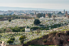 Islamic cemetery in Fez, Morocco Stock Photo