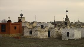 An Islamic cemetery. A scenic wide shot of an Islamic cemetery stock footage