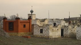An Islamic cemetery. A scenic wide shot of an Islamic cemetery stock video footage