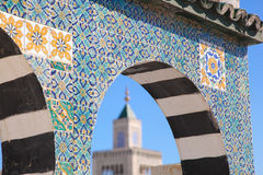 Islamic Ceramic Decoration Pattern On The Wall In Tunis, The Cap Royalty Free Stock Photography