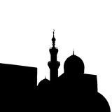 Islamic city mosque silhouette . Vector illustration Stock Image