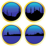 Islamic Cityscape Collection Royalty Free Stock Images