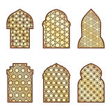 Islamic classical windows and doors with arabic ornament. Vector pattern vector illustration