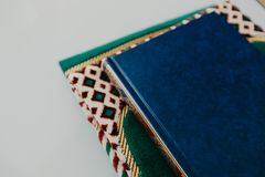 Islamic concept - The holy Quran on a praying matt - Image royalty free stock image