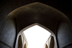 Islamic corridor. Corridor of an old persian palace Stock Photos