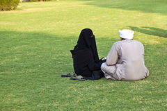 Islamic couple in India Stock Photo
