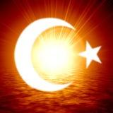Islamic crescent moon Stock Photo