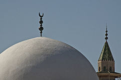 Islamic crescent on mosque Royalty Free Stock Images