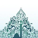 Islamic decorative design with mosque Stock Photos