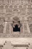 Islamic decorative design on wall Royalty Free Stock Photo