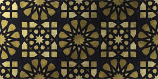 Islamic decorative pattern with golden artistic texture. stock images