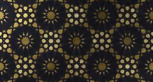 Islamic decorative pattern with golden artistic texture. stock photography