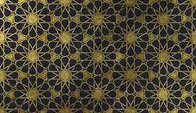 Islamic decorative pattern with golden artistic texture. royalty free stock photos