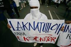 Islamic demonstration Stock Image