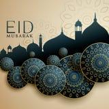 Islamic design for eid mubarak festival. Vector stock illustration