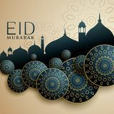 Islamic design for eid mubarak festival. Vector Stock Image
