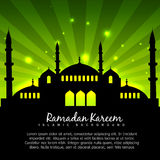 Islamic design with green background Stock Photo
