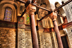 Islamic designs. In an old mosque in cairo Royalty Free Stock Photo