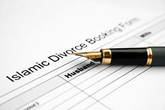 Islamic divorce form Stock Photos