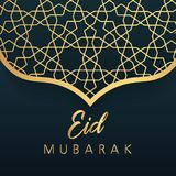 Islamic eid festival decoration greeting card design. Vector illustration Stock Images