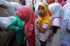 Islamic elementary school students Royalty Free Stock Image