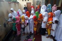 Islamic elementary school students Royalty Free Stock Photos