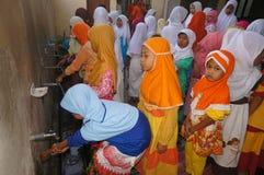 Islamic elementary school students Stock Photo